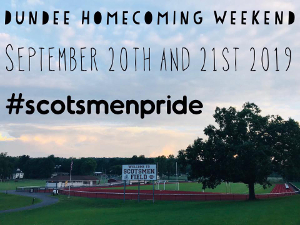 Dundee plans homecoming this weekend