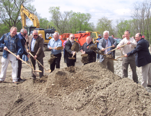Burdett breaks ground for new building