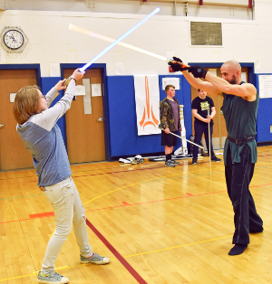 Nerf battles, with light saber combat matches
