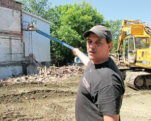 Burdett building comes down for expansion