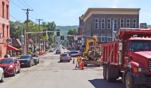Paving resumes in Watkins Glen