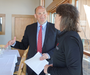 Reed meets with business leaders