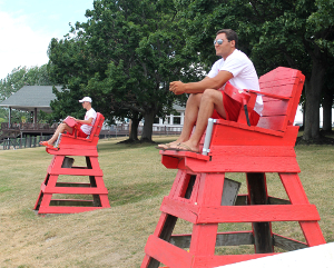 Lifeguards enjoy their summer work
