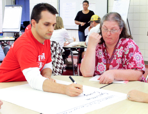Residents offer school chief input