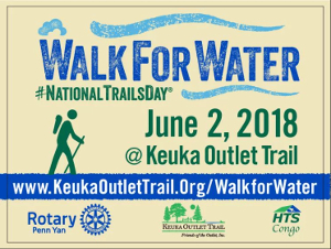 'Walk for Water' at the Keuka Outlet