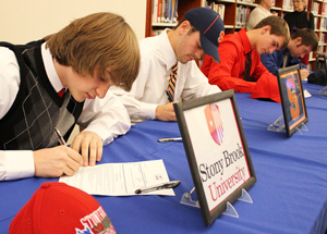 Penn Yan lacrosse players sign letter of intent