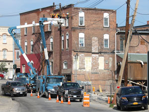 Building collapses in Penn Yan
