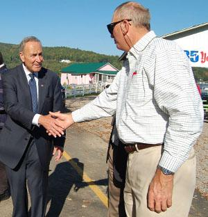 Sen. Schumer pushes for federal funds