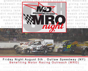Michael McDowell MRO Night returns to Outlaw Speedway
