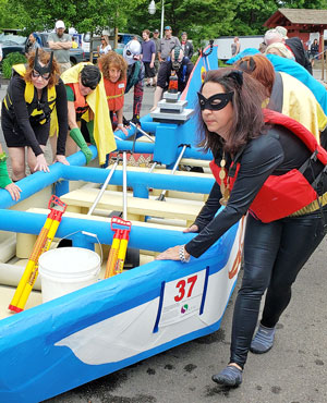 PHOTO GALLERY: Seneca Lake tests cardboard boats