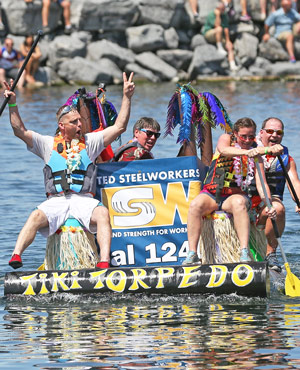 PHOTO GALLERY: Thrills and spills from the cardboard boat regatta