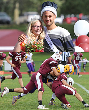 Dundee names Van Zile, Strait homecoming queen, king