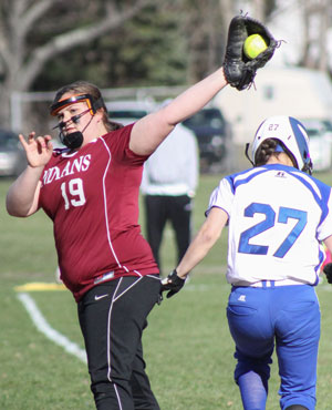 Indians softball loses close game