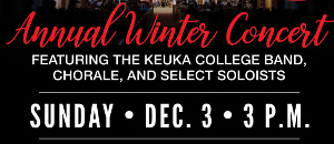 Keuka College winter concert set for Sunday