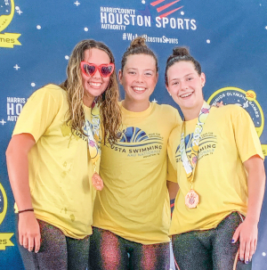 Local swimming team takes first in competition